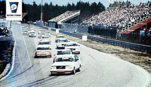 Anderstorp Sweden 1985, start of the Group A race,  winners: Thomas Lindström and Gianfranco Brancatelli in a Eggenberger Volvo 2