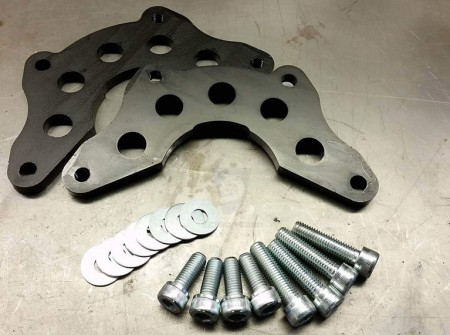 Volvo 940 drifting double caliper adapters.