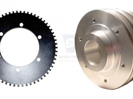 Volvo 240 740 940 b230 b200 b23 crankshaft pulley and crankshaft wheel