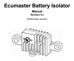 ecumaster battery isolator volvo
