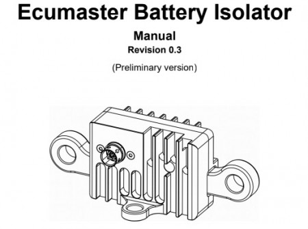 ecumaster battery isolator