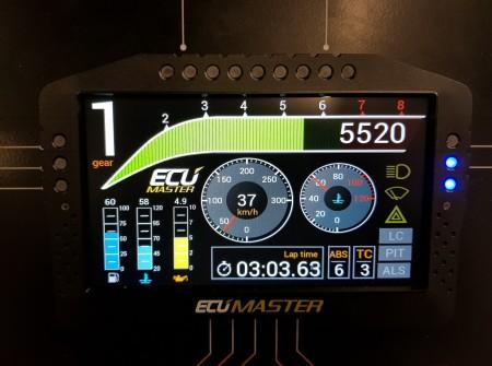 EcuMaster Dash ADU7 screen