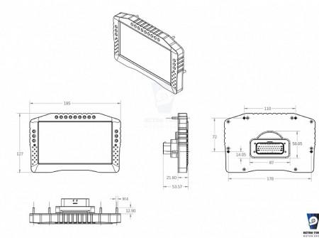Ecumaster ADU 7 dimensions CAD