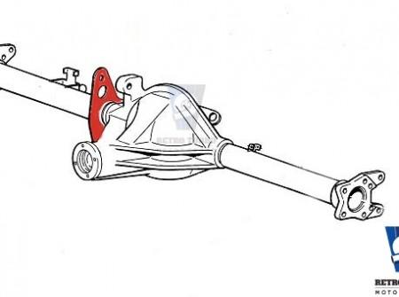Volvo 940 740 1030 1031 rear axle subframe brackets diagram