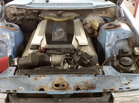 V240 Solid Engine Mounts BMW M60  M62  AS-001011-01 engine bay