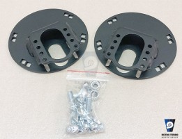 volvo 740 940 drifting lowering solid top plates for BC coilovers extra camber