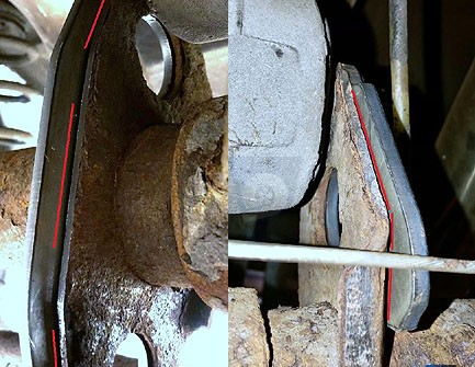 Bakaxelförstärkning Volvo 940 740 rear axle rainforcing bracket for torque rods instalation instructions