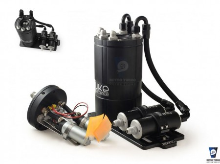 NUKE FUEL SURGE TANK KIT DUAL  FUEL SURGE TANK KIT FOR DUAL INTERNAL BOSCH 040 NK150-01-302 retroturbo motorsport